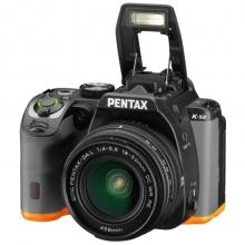 宾得(PENTAX)K-S2 18-50WR 单反套机(WIFI/NFC 翻转屏 防尘防滴 无低通滤镜 KS1升级版KS2)黑橙