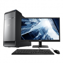 海尔(Haier)天越D7 台式电脑整机(I5-7400 8G DDR4 1TB 有线键鼠 Win10 )21.5英寸