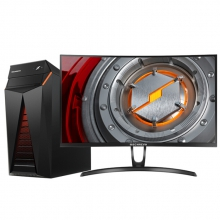 机械革命(MECHREVO)NX5-V500T 台式游戏电脑整机(i5-7400 8GDDR4 128GSSD+1T GTX1050TI 4G)27英寸曲面