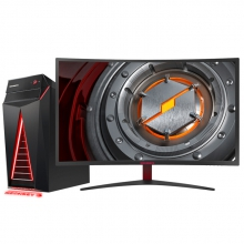 机械革命(MECHREVO)NX7-400 台式游戏电脑整机(i7-7700 8G 120GSSD+1T GTX1060 6G独显)31.5英寸
