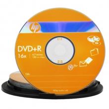 惠普(HP)DVD+R 16速 4.7GB 10片桶装 刻录盘