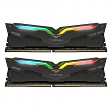 十铨(Team) RGB灯条 DDR4 3200 16G(8G×2)套装 台式机 内存条 夜鹰黑色