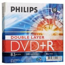 飞利浦(PHILIPS)DVD+R DL 8速 8.5GB 单面双层 10片盒装 刻录盘