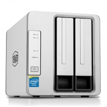 铁威马(TerraMaster)F2-220 intel双核2.4G 2G内存 双盘NAS千兆网络存储 私有云存储服务器