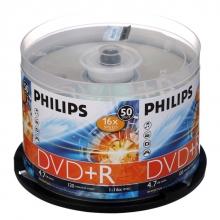 飞利浦(PHILIPS)DVD+R 16速 4.7G 桶装50片 刻录盘