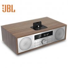 JBL 音响 音箱 迷你音响 CD机 蓝牙音响 收音机 台式音响 桌面音响 闹钟 USB 流光棕 MS402WALCN