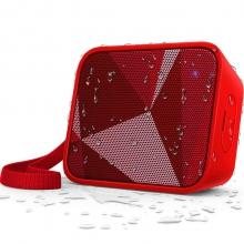 飞利浦(PHILIPS)BT110R 音乐魔盒 蓝牙音箱 防水便携迷你音响 手机/电脑小音响 低音炮 户外运动 免提通话 红色