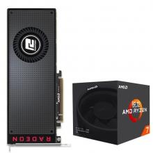 迪兰(Dataland)RX VEGA 56 8GB HBM2 显卡+锐龙 AMD Ryzen 7 1700 CPU套装