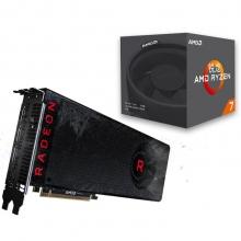 蓝宝石 (Sapphire) RADEON RX VEGA 56 8G HBM2 显卡+锐龙 AMD Ryzen 7 1700 CPU套装