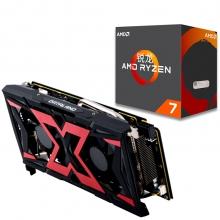 迪兰(Dataland)RX 580 8G X-Serial 战神 显卡+锐龙 AMD Ryzen 7 1800X CPU套装