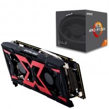 迪兰(Dataland)RX 580 8G X-Serial 战神 显卡+锐龙 AMD Ryzen 7 1700 CPU套装