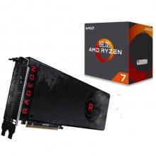 蓝宝石 (Sapphire) Radeon RX Vega 8G HBM2 显卡 +锐龙 AMD Ryzen 7 1700X CPU套装