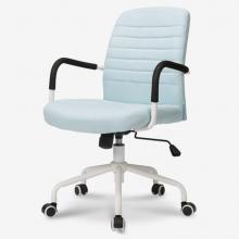 联丰(lianfeng) 电脑椅 家用休闲转椅 会议接待椅 天蓝色DS-165