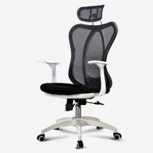 欧奥森 电脑椅 躺 家用可躺办公椅子 人体工学电竞椅 升降转椅 老板椅 会议椅子 直播椅子 S111-01-白黑-尼龙