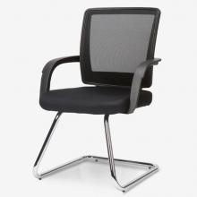 联丰(lianfeng) 电脑椅 弓形办公椅 会议椅家用网布椅 黑色DS-126D