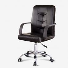 欧奥森 电脑椅皮椅办公椅 椅子职员网椅转椅会议椅家用电脑椅子休闲椅老板椅 S302-01-黑