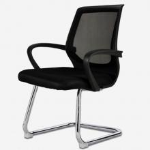 欧奥森 电脑椅 办公椅弓形电脑椅子职员网椅转椅会议椅弓形椅子人体工学电竞椅家用网吧 S103-10-黑色弓形椅