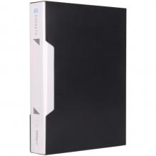 可得优(KW-triO) 加厚资料册插袋文件册活页文件夹 办公册 单只装 W-308 黑色(80页)