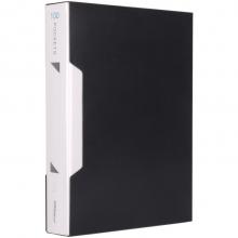 可得优(KW-triO) 加厚资料册插袋文件册活页文件夹 办公册 单只装 W-310 黑色(100页)