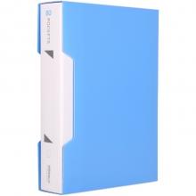 可得优(KW-triO) 加厚资料册插袋文件册活页文件夹 办公册 单只装 W-308 蓝色(80页)