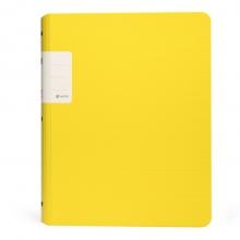 树德(Shuter) A4/30页资料册 办公插袋文件册 加厚活页文件夹 UT彩虹系列 U6123 黄色