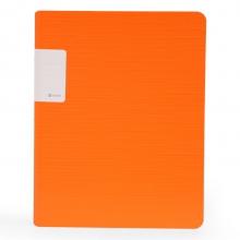 树德(Shuter) A4/20页资料册 办公插袋文件册 加厚活页文件夹 UT彩虹系列 U6122 橙色