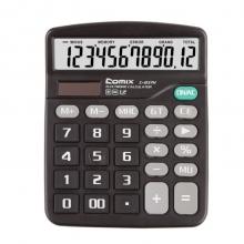 齐心(Comix) 12位中台办公经典计算器 黑色 新老包装随机发货 办公文具 C-837H