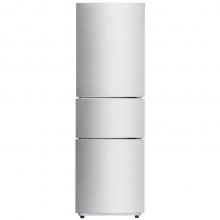 美的(Midea) BCD-219TM 219升 三门冰箱 静音节能 冷藏冷冻家用电冰箱 极光银