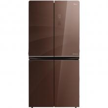 美的(Midea) 429升 玻璃面板 智能双变频无霜十字对开门冰箱 温湿精控 一级能效 BCD-429WGPZM(E)伯爵咖