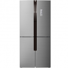 美菱(MeiLing) BCD-420WP9CX 420升十字对开 恒温变频 风冷无霜 节能静音 十字对开门冰箱(银)