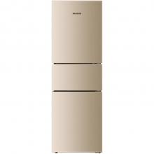 美菱(MeiLing)BCD-218WE3CX 218升 风冷无霜 电脑控温 节能静音 宽幅变温 时尚三门冰箱(金)