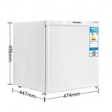 美菱(MeiLing)BC-46 46升单门冷藏迷你小型冰箱一级能效 居家 白