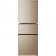 美菱(MeiLing)BCD-306WPCX 306升 变频保鲜 风冷无霜 时尚纤薄 节能静音 法式多门冰箱(金)