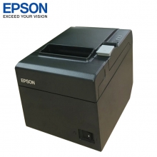 爱普生(EPSON) TM-T60热敏打印机80mm票据微型打印机厨房商场收银小票打印机 黑色 USB 接口