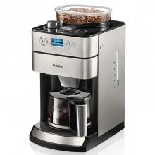 飞利浦(PHILIPS) 咖啡机家用不锈钢冲煮全自动豆粉两用研磨一体机 HD7751