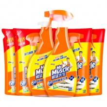 威猛先生 厨房重油污净 家庭装多包装 (柠檬)500g+500g+420g*4 厨房 油烟机清洁剂