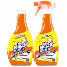 威猛先生 厨房重油污净 双包装(柠檬)500g+500g 厨房清洁剂 油烟机清洁剂