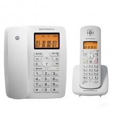 摩托罗拉(Motorola)C4200C数字无绳电话机/座机/子母机免提来电显示低辐射家用办公一拖一固定无线座机(白色)