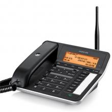 摩托罗拉(Motorola)FW250R无线插卡录音电话机移动固话办公家用座机无绳支持移动联通手机卡SIM卡(黑色)