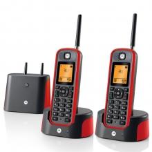 摩托罗拉 Motorola O202C 电话机 远距离数字无绳套装 橙色背光电话簿中英文显示菜单可扩展 无线座机(红色)