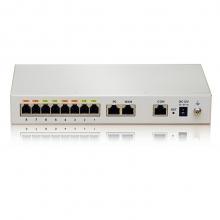 迅时 MX8A 8口voip语音网关 网络电话网关 SIP 组网 配置: MX8A-6S/2(6个分机口+2个模拟外线口)