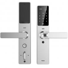 Wulian智能锁 指纹电子防盗门锁 网络可视摄像头语音视频红外线感应远程app远程开关 皓月银(含网关摄像头)