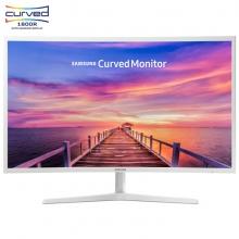 三星(SAMSUNG)31.5英寸 1800R曲率 广视角可壁挂曲面 电脑显示器 C32F395FWC(HDMI/DP双接口)